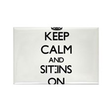 Keep Calm and Sit-Ins ON Magnets