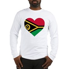 Vanuatu Flag Long Sleeve T-Shirt