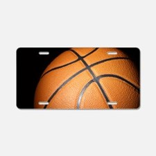 Basketball Ball Aluminum License Plate