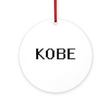 Kobe Digital Name Design Ornament (Round)