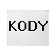 Kody Digital Name Design Throw Blanket