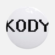 Kody Digital Name Design Ornament (Round)