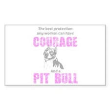 Courage And A Pit Bull Decal