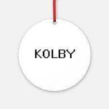 Kolby Digital Name Design Ornament (Round)