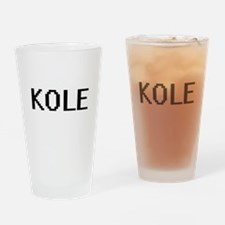 Kole Digital Name Design Drinking Glass
