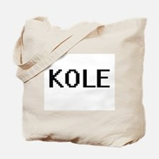 Kole Digital Name Design Tote Bag