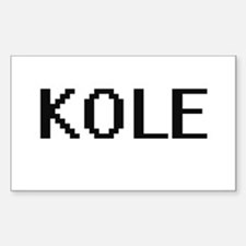 Kole Digital Name Design Decal