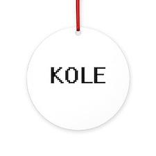 Kole Digital Name Design Ornament (Round)