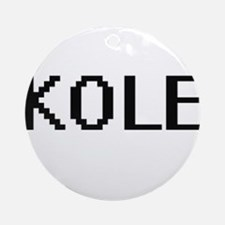 Kole Digital Name Design Ornament (Round)