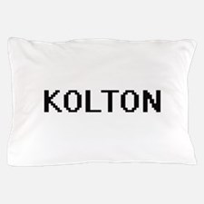 Kolton Digital Name Design Pillow Case