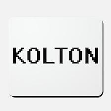 Kolton Digital Name Design Mousepad