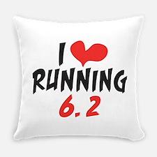I Heart (love) Running 6.2 Everyday Pillow