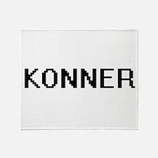 Konner Digital Name Design Throw Blanket