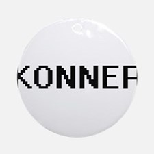 Konner Digital Name Design Ornament (Round)
