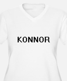 Konnor Digital Name Design Plus Size T-Shirt