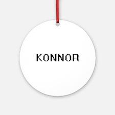 Konnor Digital Name Design Ornament (Round)