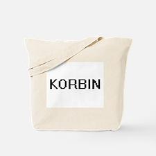 Korbin Digital Name Design Tote Bag
