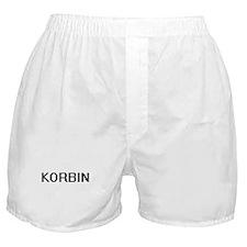 Korbin Digital Name Design Boxer Shorts
