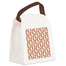 Hipster foxes cute fox pattern wo Canvas Lunch Bag
