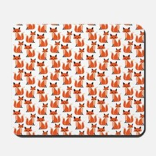 Hipster foxes cute fox pattern woodland  Mousepad