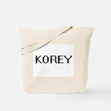 Korey Digital Name Design Tote Bag