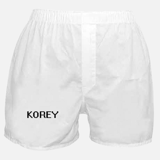 Korey Digital Name Design Boxer Shorts