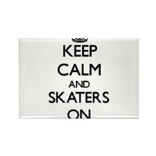 Keep Calm and Skaters ON Magnets