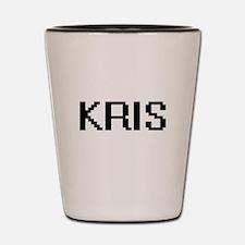 Kris Digital Name Design Shot Glass