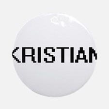 Kristian Digital Name Design Ornament (Round)