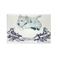 Westhighland Agility Terrier Rectangle Magnet