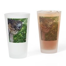 Red Tailed Hawk Drinking Glass