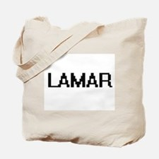 Lamar Digital Name Design Tote Bag