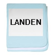 Landen Digital Name Design baby blanket