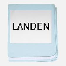 Landen Digital Name Design baby blanket