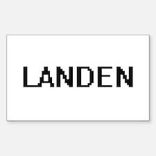 Landen Digital Name Design Decal