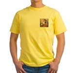 VINTAGE DOG ART: MUSIC COVER Yellow T-Shirt