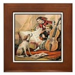 VINTAGE DOG ART: MUSIC COVER Framed Tile