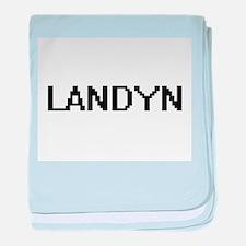 Landyn Digital Name Design baby blanket