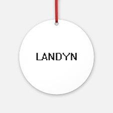 Landyn Digital Name Design Ornament (Round)