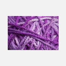 Purple Yarn Rectangle Magnet