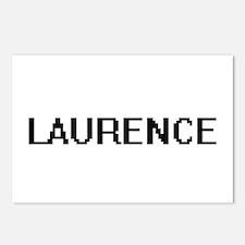 Laurence Digital Name Des Postcards (Package of 8)