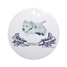 Westhighland Agility Terrier Ornament (Round)