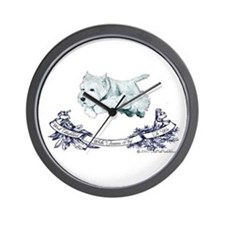 Westhighland Agility Terrier Wall Clock