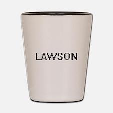 Lawson Digital Name Design Shot Glass