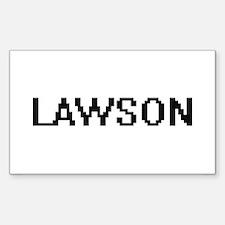 Lawson Digital Name Design Decal