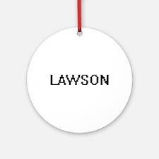 Lawson Digital Name Design Ornament (Round)