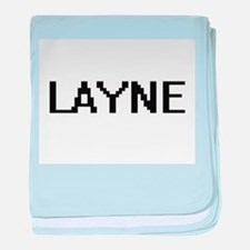 Layne Digital Name Design baby blanket