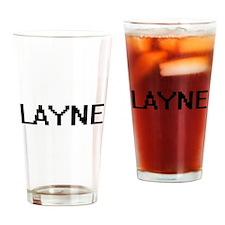Layne Digital Name Design Drinking Glass