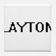 Layton Digital Name Design Tile Coaster
