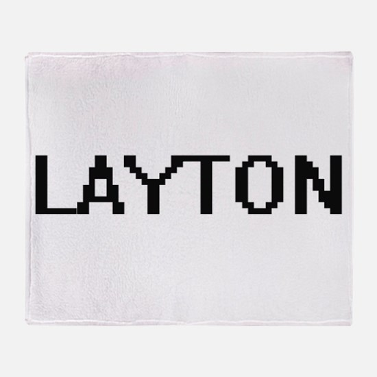 Layton Digital Name Design Throw Blanket